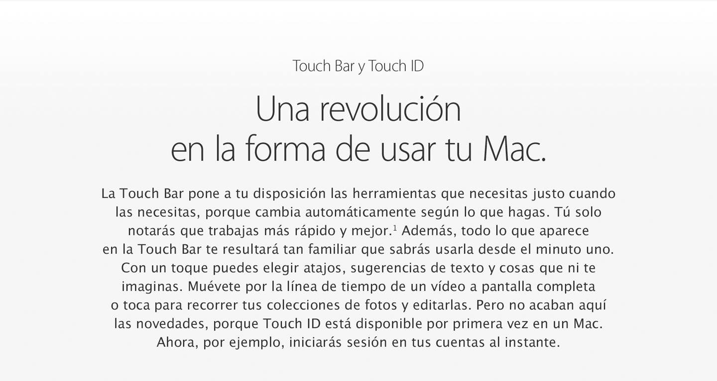 Nuevo Macbook con Touch Bar y Touch iD